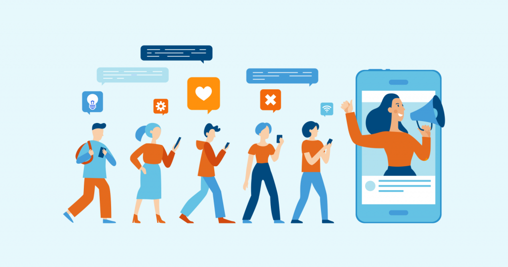 Illustration til Influencer Marketing, hvad er det?